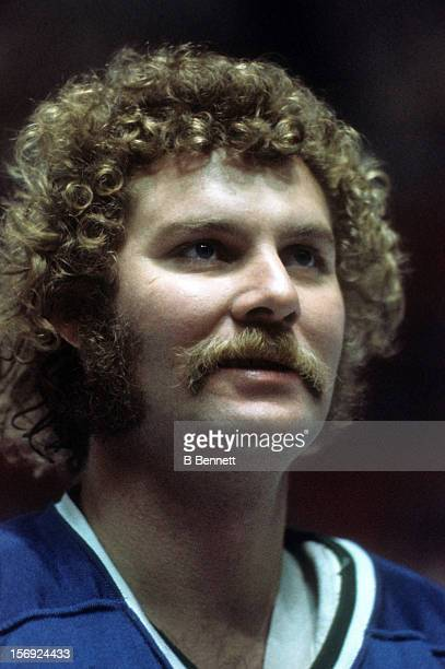 Goalie Gary Smith of the Vancouver Canucks looks on before an NHL game circa 1975
