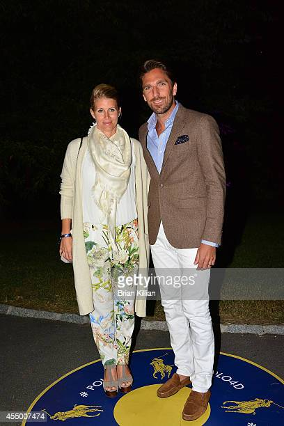 NHL goalie Henrik Lundqvist and wife Therese Andersson attend Polo Ralph Lauren For Women during MercedesBenz Fashion Week Spring 2015 at Cherry Hill...