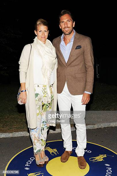 NHL goalie Henrik Lundqvist and wife Therese Andersson attend the Polo Ralph Lauren fashion show during MercedesBenz Fashion Week Spring 2015 at...