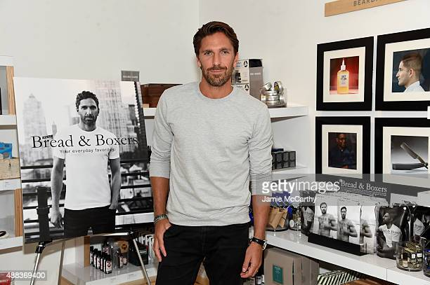 NHL goalie Henrik Lundqvist attends Henrik Lundqvist Birchbox Man In Store Event at Birchbox on September 15 2015 in New York City