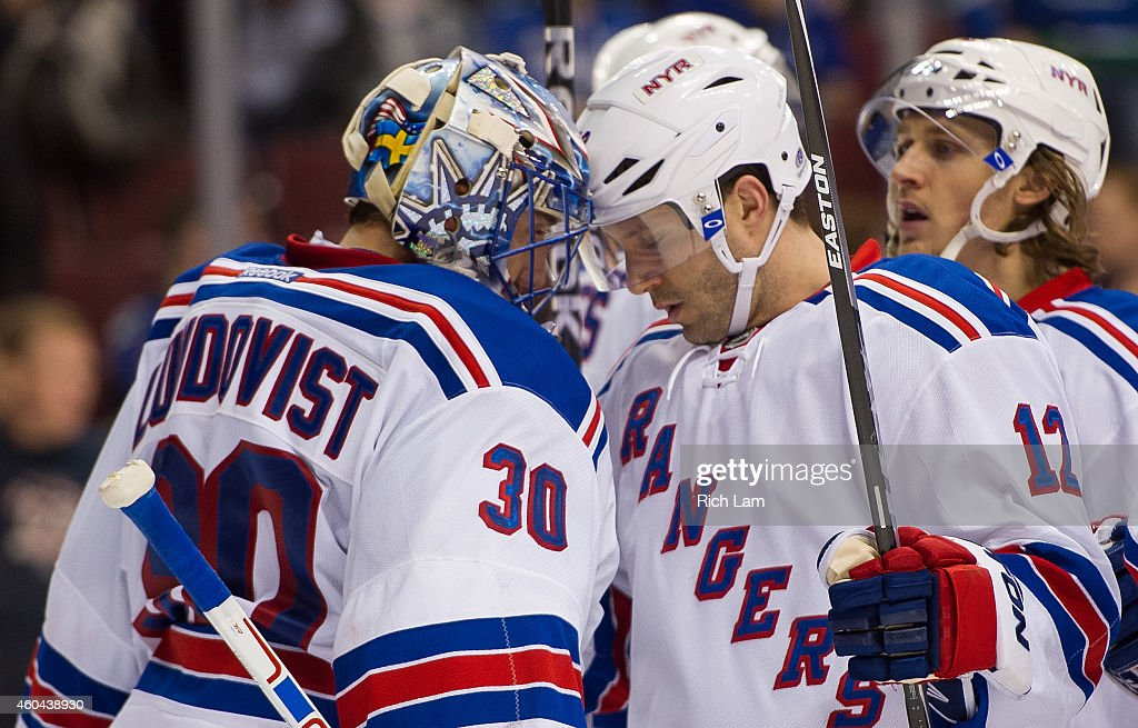 New York Rangers v Vancouver Canucks : News Photo
