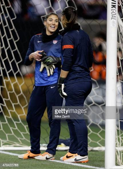 Goalie Hope Solo of the United States Women's National ...