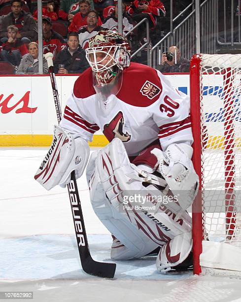 Goalie Ilya Bryzgalov of the Phoenix Coyotes wears his Vaughn goalie pads  during a hockey game 1048fc9e68c