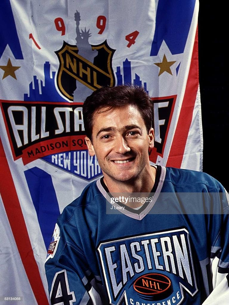 Goalie John Vanbiesbrouck #34 of the Eastern Conference and the Florida Panthers poses for a portrait before the 1994 45th NHL All-Star Game against the Western Conference on January 22, 1994 at the Madison Square Garden in New York, New York. The Eastern Conference defeated the Western Conference 9-8.