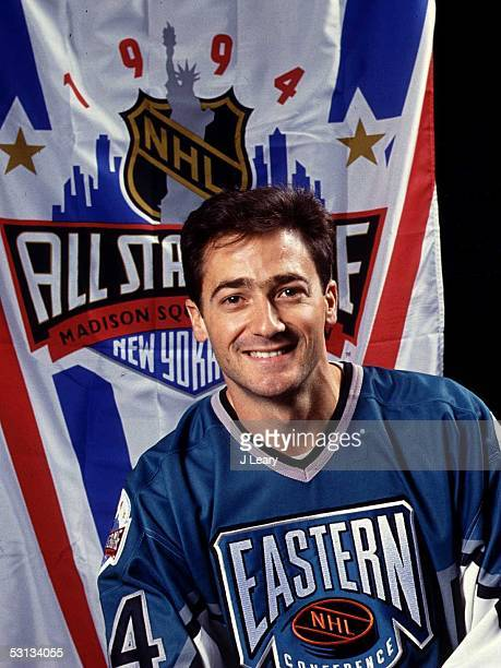 Goalie John Vanbiesbrouck of the Eastern Conference and the Florida Panthers poses for a portrait before the 1994 45th NHL AllStar Game against the...
