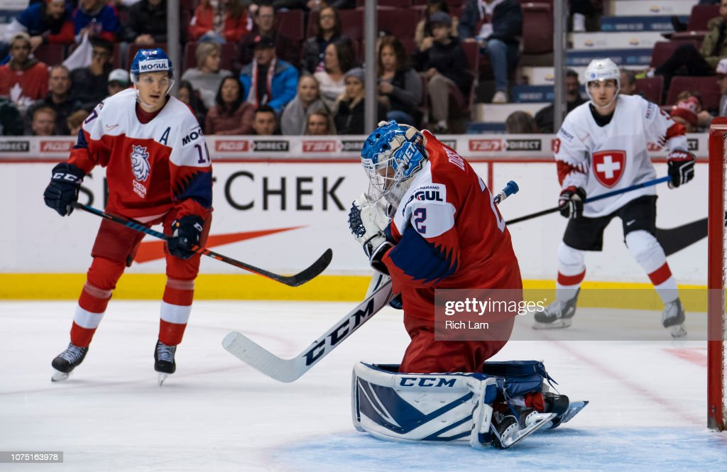 Czech Republic v Switzerland - 2019 IIHF World Junior Championship : News Photo