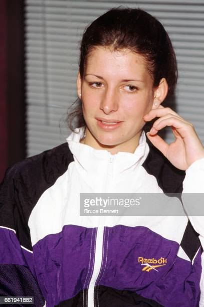 Goalie Manon Rheaume of the Charlotte Checkers in the ECHL poses for a portrait circa October 1995