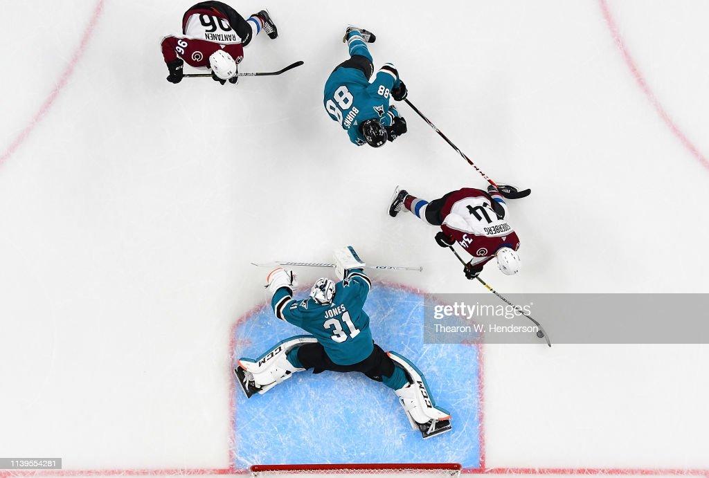 Colorado Avalanche v San Jose Sharks - Game One : News Photo