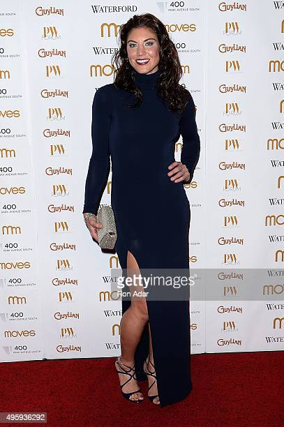 Goalie of the World Champion National American Womens Soccer Team, Hope Solo attends the New York Moves 2015 Power Women Awards Gala at India House...