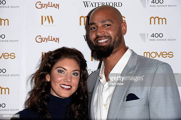 Goalie of the World Champion National American Womens Soccer Team Hope Solo and Jerramy Stevens attend the New York Moves 2015 Power Women Awards...