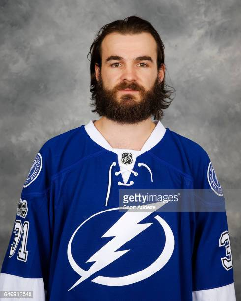 Goalie Peter Budaj of the Tampa Bay Lightning poses for his official headshot at Amalie Arena on March 1 2017 in Tampa Florida