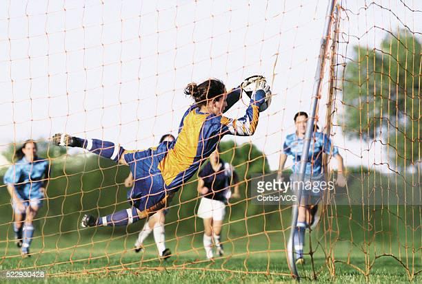 Goalie Saving a Goal