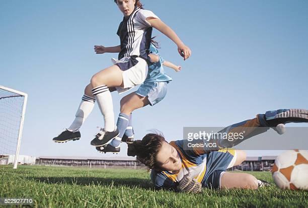 Goalie Sliding for the Soccer Ball
