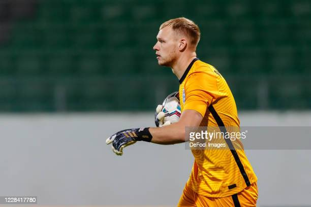 goalkeeper Aaron Ramsdale of England looks on during the UEFA Euro Under 21 Qualifier match between Austria U21 and England U21 at Keine Sorgen Arena...