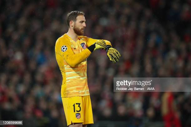 Goalkeeper Adrian of Liverpool during the UEFA Champions League round of 16 second leg match between Liverpool FC and Atletico Madrid at Anfield on...