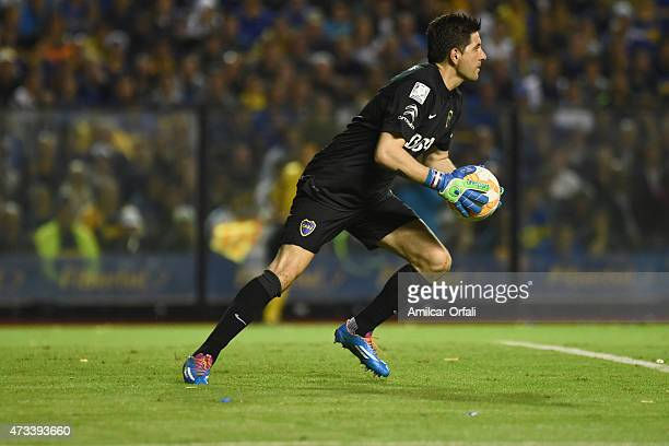 Goalkeeper Agustin Orion in action during a second leg match between Boca Juniors and River Agustin Orion of Boca JuniorsPlate as part of round of...