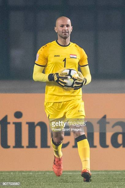 Goalkeeper Ahmed Basil of Iraq in action during the AFC U23 Championship China 2018 Group C match between Iraq and Jordan at Changshu Sports Center...