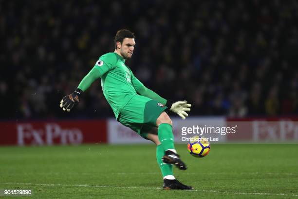 Goalkeeper Alex McCarthy of Southampton during the Premier League match between Watford and Southampton at Vicarage Road on January 13 2018 in...