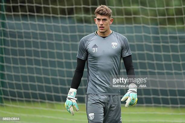 Goalkeeper Alex Palmer of West Bromwich Albion during a training session at West Bromwich Albion Training Ground on August 11 2016 in Walsall England