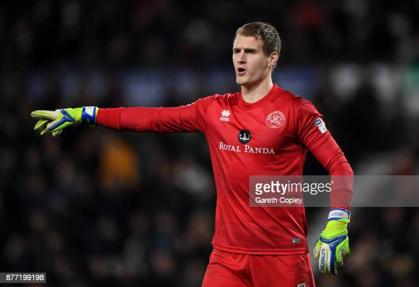 QPR goalkeeper Alex Smithies during the Sky Bet Championship match between Derby County and Queens Park Rangers at iPro Stadium on November 21 2017...