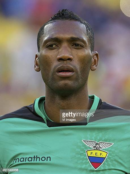 goalkeeper Alexander Dominguez of Ecuador during the FIFA World Cup match between Ecuador and France on June 25 2014 at the Maracana stadium in Rio...
