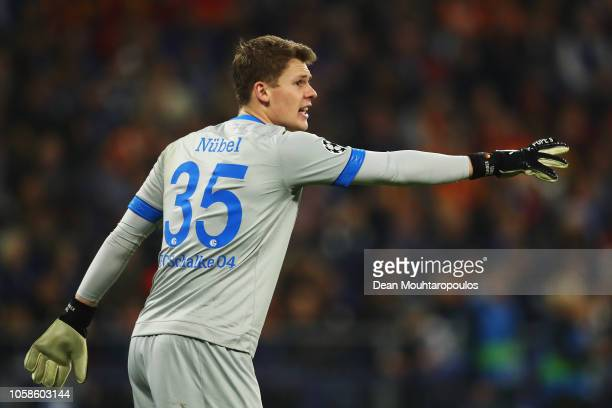 Goalkeeper Alexander Nubel of Schalke 04 in action during the Group D match of the UEFA Champions League between FC Schalke 04 and Galatasaray at...