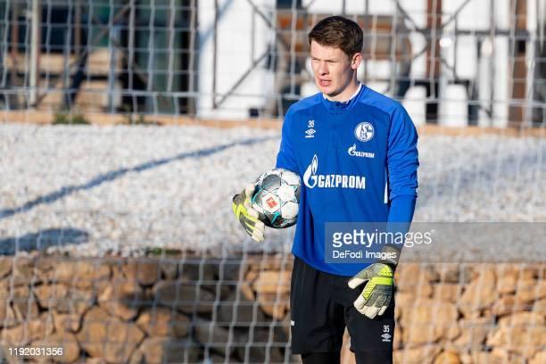 goalkeeper Alexander Nuebel of FC Schalke 04 looks on during the FC Schalke 04 winter training camp on January 05 2020 in Fuente Alamo near Murcia...