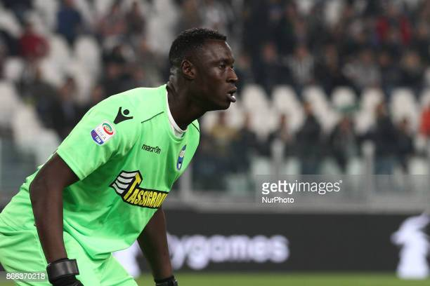 SPAL goalkeeper Alfred Gomis during the Serie A football match n10 JUVENTUS SPAL on at the Allianz Stadium in Turin Italy
