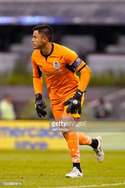 Goalkeeper Alfredo Talavera of Toluca during the 6th round match between Cruz Azul and Toluca as part of the Torneo Apertura 2018 Liga MX at Azteca...