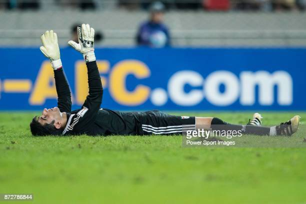 Goalkeeper Ali Beiranvand of Iran reacts during their 2018 FIFA World Cup Russia Final Qualification Round Group A match between Korea Republic and...