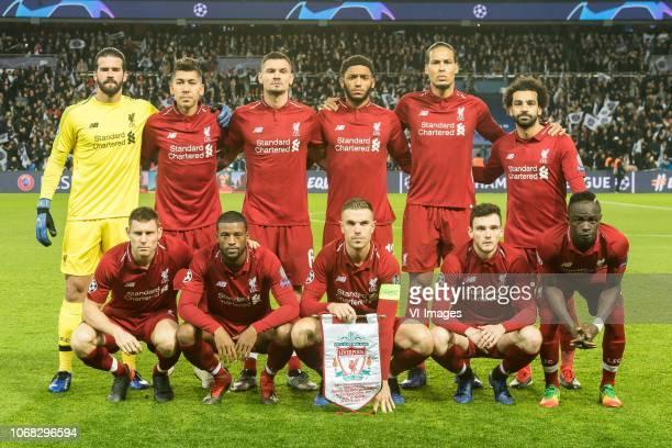 goalkeeper Alisson Becker of Liverpool FC Roberto Firmino of Liverpool FC Dejan Lovren of Liverpool FC Joe Gomez of Liverpool FC Virgil van Dijk of...