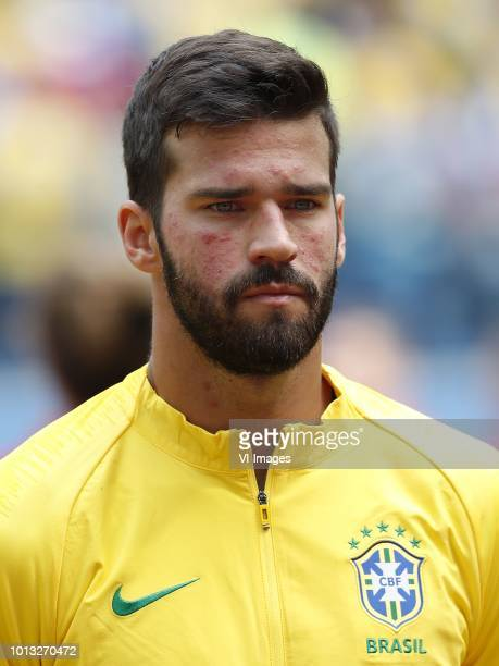 goalkeeper Alisson of Brazil during the 2018 FIFA World Cup Russia group E match between Brazil and Costa Rica at the Saint Petersburg Stadium on...