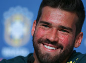 sochi russia goalkeeper alisson smiles during