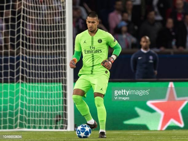 goalkeeper Alphonse Areola of Paris SaintGermain during the UEFA Champions League group C match between Paris St Germain and Crvena zvezda at the...