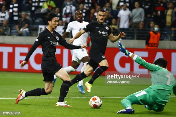 Goalkeeper Altay Bayindir of Fenerbahce in action during the UEFA Europa League group D match between Eintracht Frankfurt and Fenerbahce at Deutsche...