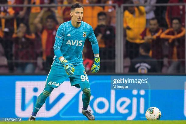 Goalkeeper Altay Bayindir of Fenerbahce SK during the Turkish Spor Toto Super Lig match between Galatasaray SK and Fenerbahce AS at the Turk Telekom...