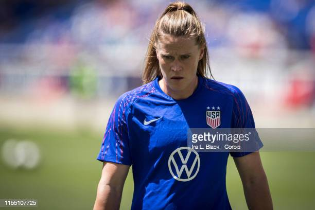 Goalkeeper Alyssa Naeher of United States warms up during the International Friendly match the US Women's National Team and Mexico as part of the...
