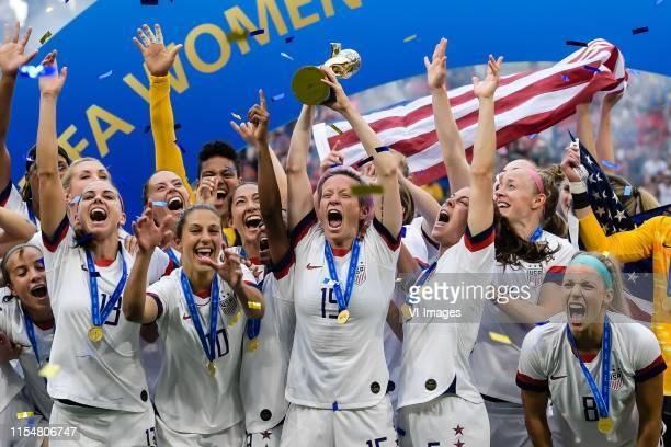 Goalkeeper Alyssa Naeher of USA women, Mallory Pugh of USA women, Samantha Mewis of USA women, Becky Sauerbrunn of USA women, Kelley O Hara of USA...
