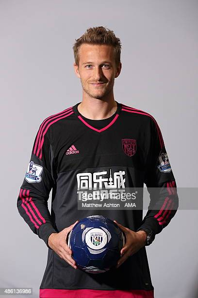 Goalkeeper Anders Lindegaard signs for WBA at West Bromwich Albion Training Ground on August 31 2015 in Walsall England