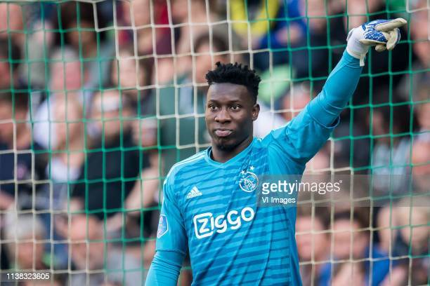 goalkeeper Andre Onana of Ajax during the Dutch Eredivisie match between FC Groningen and Ajax Amsterdam at Hitachi Capital Mobility stadium on April...