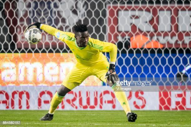 goalkeeper Andre Onana of Ajax during the Dutch Eredivisie match between FC Twente Enschede and Ajax Amsterdam at the Grolsch Veste on December 02...