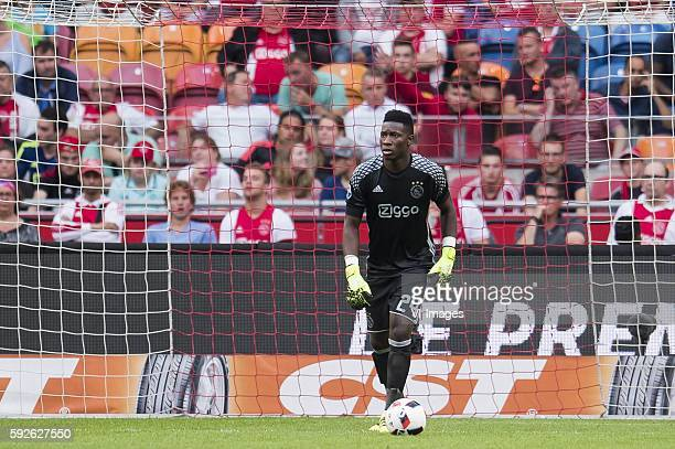 goalkeeper Andre Onana of Ajax during the Dutch Eredivisie match between Ajax and Willem II at the Amsterdam Arena on august 20 2016 in Amsterdam the...