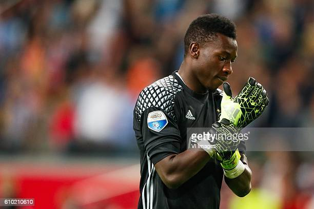 goalkeeper Andre Onana of Ajax during the Dutch Eredivisie match between Ajax Amsterdam and PEC Zwolle at the Amsterdam Arena on September 24 2016 in...