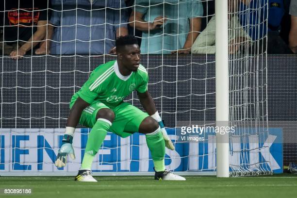 goalkeeper Andre Onana of Ajax during the Dutch Eredivisie match between Heracles Almelo and Ajax Amsterdam at Polman stadium on August 12 2017 in...
