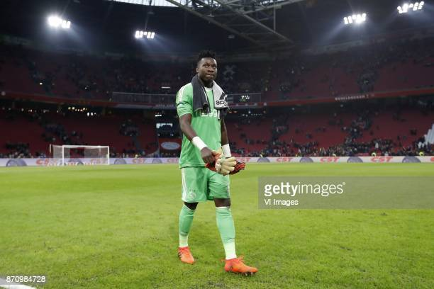 goalkeeper Andre Onana of Ajax during the Dutch Eredivisie match between Ajax Amsterdam and FC Utrecht at the Amsterdam Arena on November 05 2017 in...