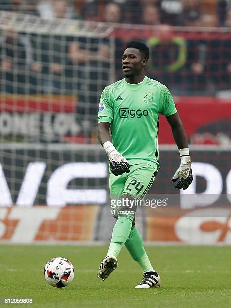 goalkeeper Andre Onana of Ajaxduring the Dutch Eredivisie match between Ajax Amsterdam and FC Utrecht at the Amsterdam Arena on October 02 2016 in...