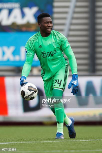 goalkeeper Andre Onana of Ajaxduring the Dutch Eredivisie match between sbv Excelsior Rotterdam and Ajax Amsterdam at Woudenstein stadium on March 19...