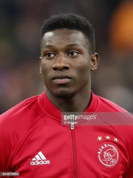 goalkeeper Andre Onana of Ajaxduring the UEFA Europa League round of 16 match between Ajax Amsterdam and Legia Warsaw at the Amsterdam Arena on...