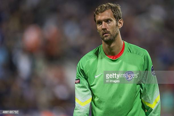 goalkeeper Andreas Isaksson of Kasimpasa SK during the Super Lig match between Kasimpasa SK and Fenerbahce on September 13 2015 at the Recep Tayyip...