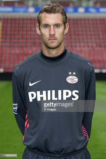 Goalkeeper Andreas Isaksson of PSV Eindhoven poses during a photocall held at the Philips Stadium on July 25 2011 in Eindhoven Netherlands